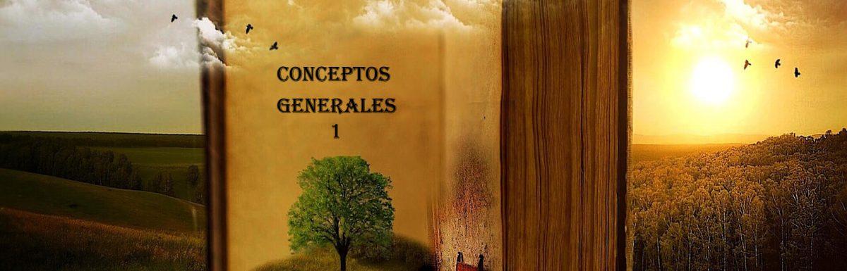 Resumen de conceptos generales, Parte 1